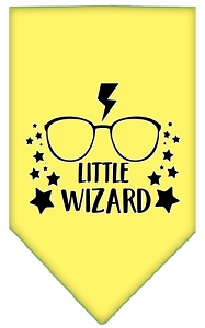 Little Wizard Screen Print Bandana Yellow Small